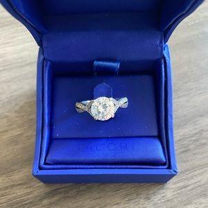 Discontinued Tacori Ribbon Engagement  Ring 6.5